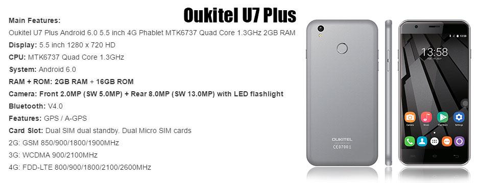 Oukitel U7 Plus