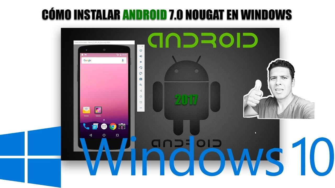 instalar Android en PC Windows