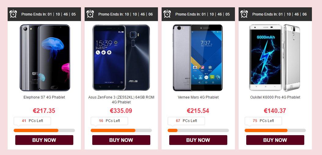 Móviles chinos baratos febrero 2017