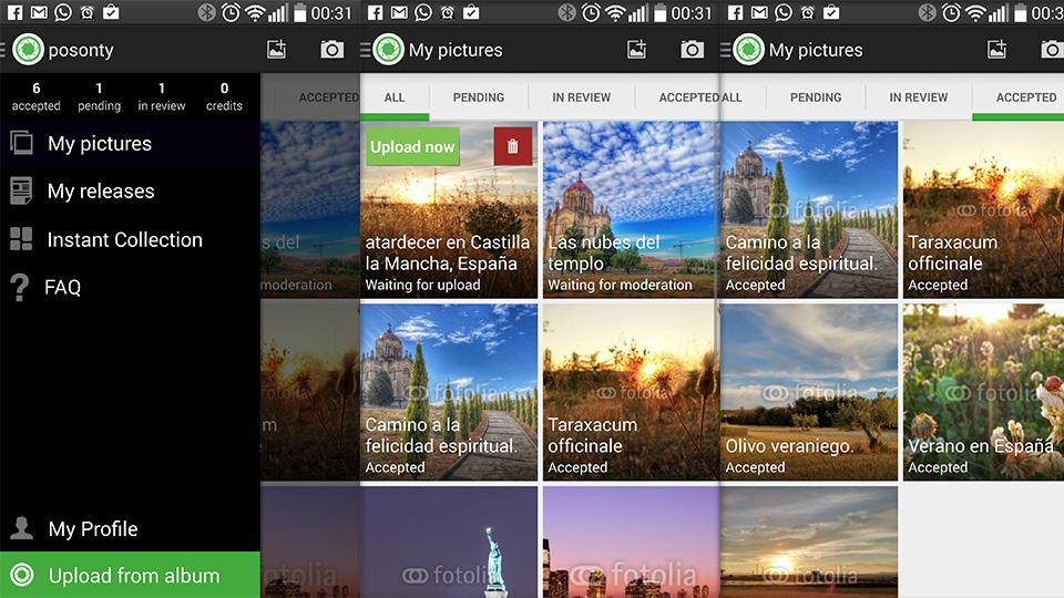 Aquí pueden ver la app instalada en mi LG G3 y las fotos que tengo aceptadas (6)