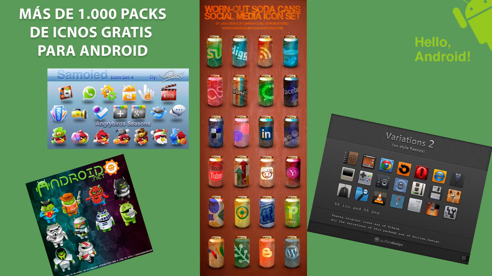 Iconos Gratis Para Android Más De 1000 Packs