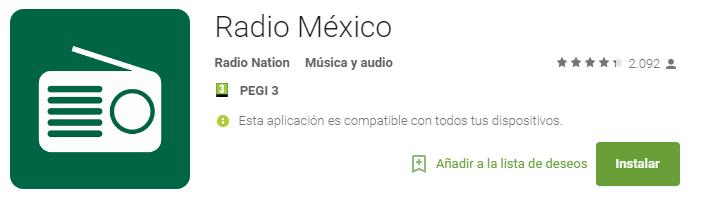 la mejor app para escuchar la radio de méxico