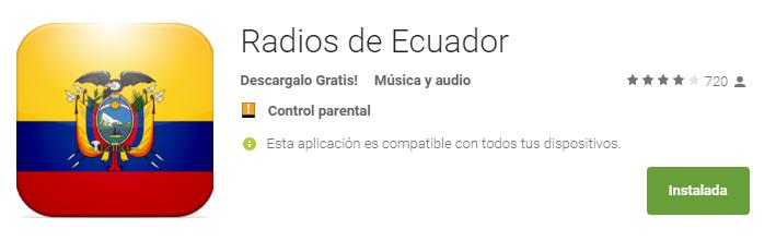 Mejor app de android para escuchar la radio de Ecuador