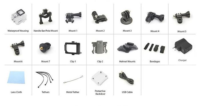 accesorios cámara china deportiva barata