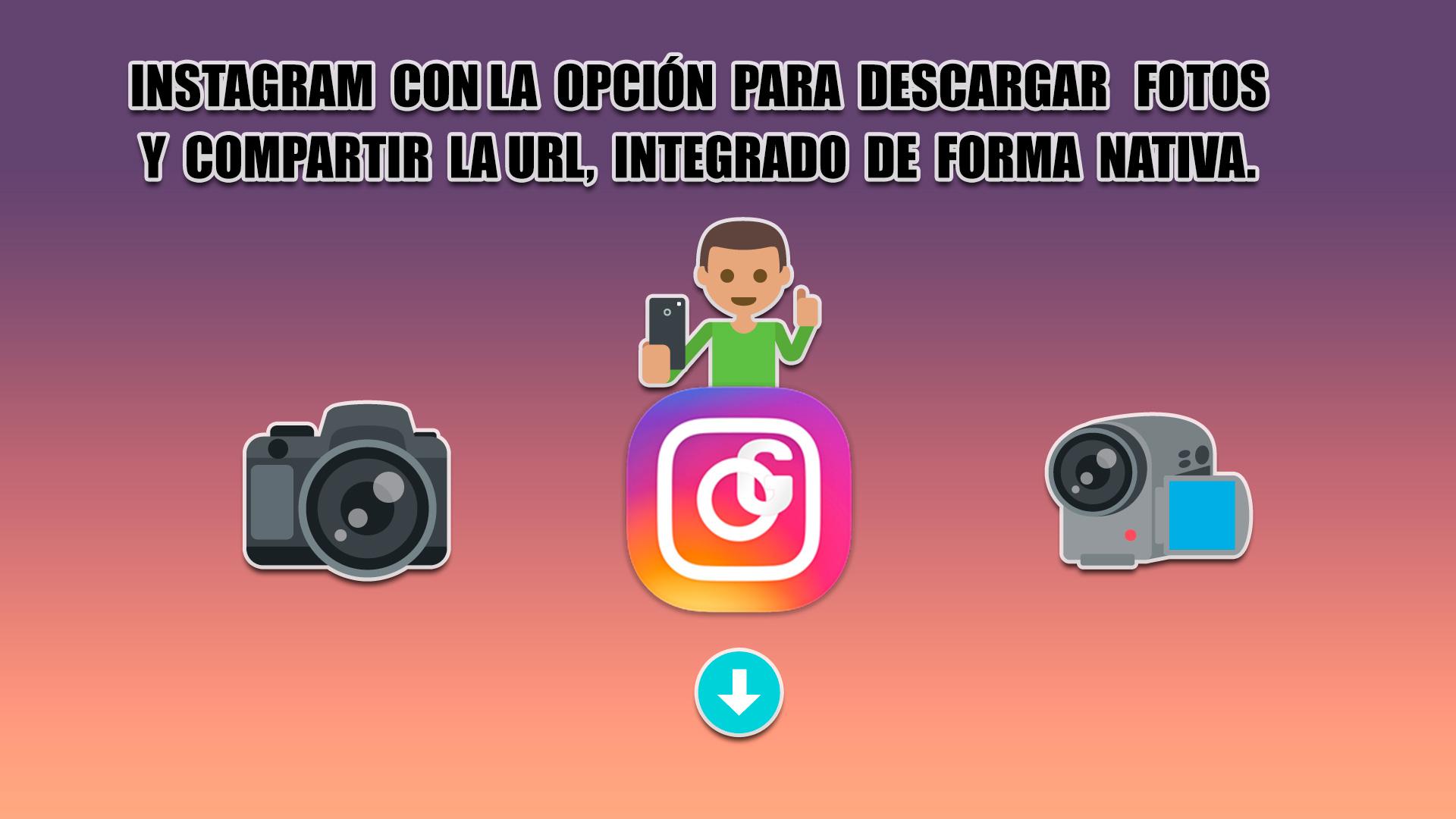 descargar las fotos y vídeos de Instagram