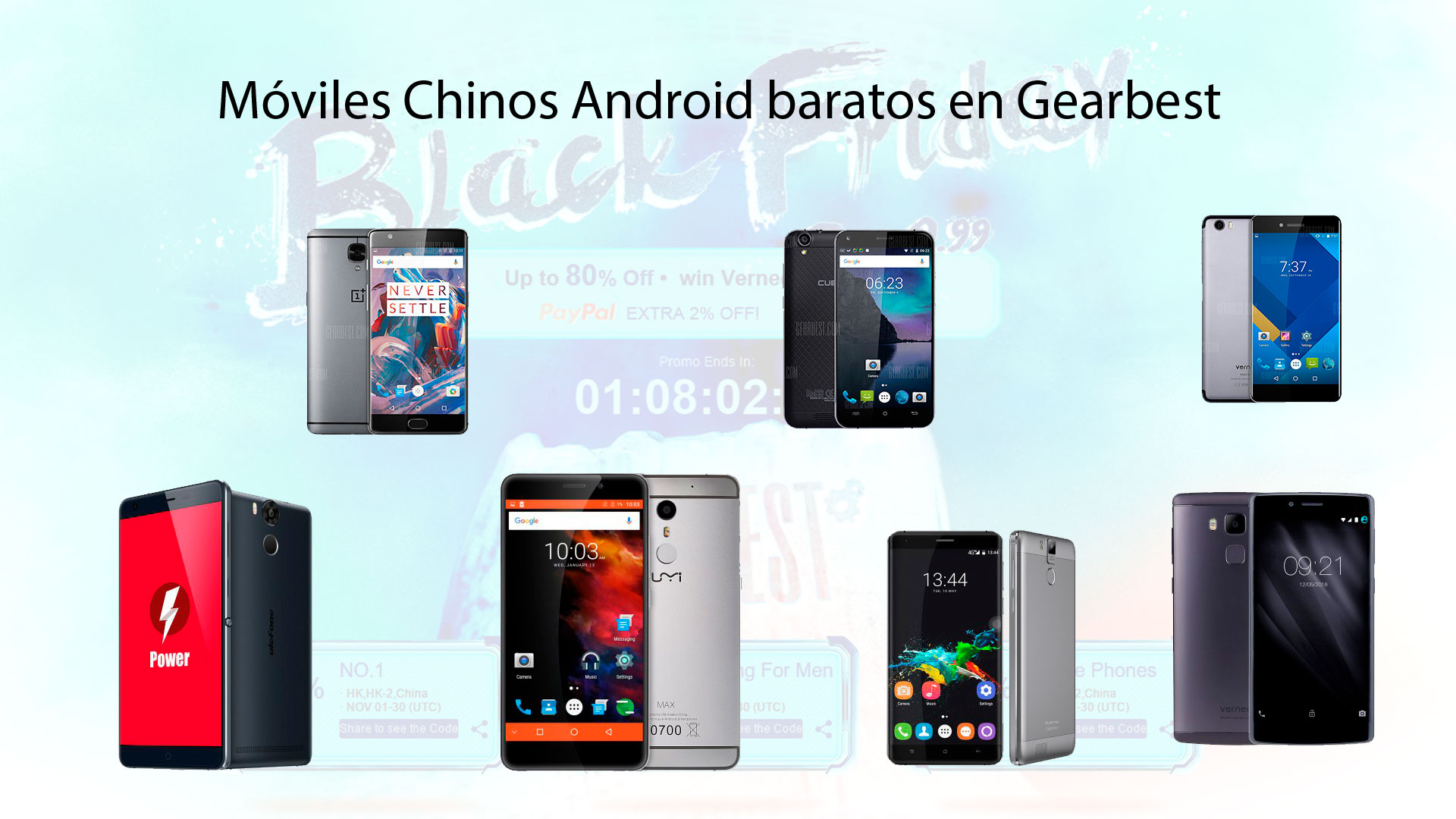 Móviles Chinos Android baratos en Gearbest