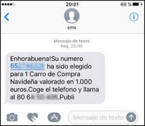 detectar sms fraudulentos